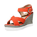 Women's Shoes Customized Materials Wedge Heel Wedges Sandals Office & Career / Dress / Casual Black / Pink