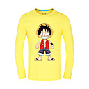 Inspirirana One Piece Monkey D. Luffy Anime Cosplay nošnje Cosplay Tops/Bottoms Print Žuta Dugi rukav Top