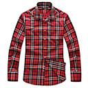 Le Smart Muškarci Kragna košulje Dugi rukav Shirt & Bluza Srebrna - SW14168