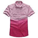 Le Smart Muškarci Kragna košulje Kratki rukav Shirt & Bluza Srebrna / Siva - MSS6207