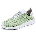 Women's Shoes Microfibre Flat Heel Comfort / Novelty Fashion Sneakers Athletic / Casual Green / Black and White / Orange