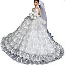 Svatební Šaty Pro Barbie Doll Biały Šaty Pro Dívka je Doll Toy