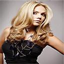 vysoce kvalitní syntetický platinová blondýna dlouhé vlnité vlasy bez krytky paruka syntetické