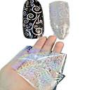 1pcs 100 * 4cm prozirne laser nail art transfer svjetlucavo naljepnice DIY geometrijski kovanice cvijet slika noktiju kozmetički lt01-04