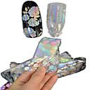 1pcs 100 * 4cm transparentno laserski nail art glitter naljepnice DIY lijep cvijet geometrijske slike noktiju kozmetički lt05-08