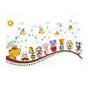 Komiks / Hudba Samolepky na zeď Samolepky na stěnu,PVC 60*90 cm(23.62*35.43 inch)