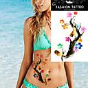 5kom vodootporan cvijet ptica akvarel zapos tijelo ruka si privremeni tattoo naljepnicu
