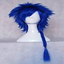 Novi stilski čovjekove cosplay vlasulja sintetičke kose perika pletenje duge kovrčave perike animirani pletu plava perika strana