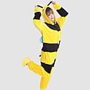 Kigurumi Pyžama Včela Leotard/Kostýmový overal Festival/Svátek Animal Sleepwear Halloween Černá / Žlutá Patchwork Coral Fleece Kigurumi