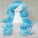 Cosplay vlasulja izrazito dugi prirodno valovita sintetičke kose perika animirani strana perika 4 boje