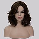 Žene dama smeđe boje kratke sintetičke kose perika