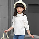 女の子の カジュアル/普段着 ゼブラプリント コットン,ブラウス 春 / 秋 ホワイト