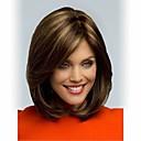 新しいメディアストレートヘアの女性のかつらかつらブロンドのハイライトを使用して新しいかつらファッションブラウン