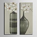 platno Set Cvjetni / Botanički Europska Style,Dvije plohe Platno Vertikalno Ispis Art Zid dekor For Početna Dekoracija