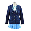 Inspirirana K-ON Yui Hirasawa Anime Cosplay nošnje Cosplay Suits / School Uniforms Jednobojni Plava Dugi rukavKaput / Shirt / Suknja /