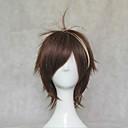 cosplay vinným koruna paruky 35cm dlouhé rovné tmavě hnědá paruka syntetické paruku