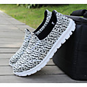 Men's Loafers & Slip-Ons Spring / Fall Comfort PU Casual Flat Heel Slip-on Black / White Walking / Others