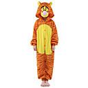 Kigurumi Pyžama New Cosplay® / Tiger Leotard/Kostýmový overal Festival/Svátek Animal Sleepwear Halloween Žlutá Patchwork Velvet Mink