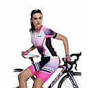 SANTIC® Biciklistička majica s kratkim hlačama Žene Kratki rukav Bicikl Prozračnost / Quick dryKratke hlače / Biciklistička majica /