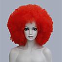 afro funs červená paruka cirkus klaun tam kudrnatý unisex halloween dospělý kostým paruka 6018 červená