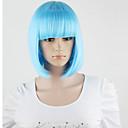 Harajuku dámská lolita krátké umělých vlasů strana hnědá smíšené cosplay paruky plné nebe modrá paruky