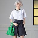 povremeni / dnevno jednostavna ljetna t-shirtembroidered vrat posada rukav dužina room404 ženske