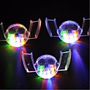 3ks barevné blikající LED blesk světlo stráž úst kus 4 barvy strany zářící zub hračka slavnostní Party zboží
