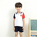 Boy's Going out Solid Clothing SetCotton Spring / Fall White