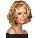 capless mix boja srednje dužine visokokvalitetan prirodni val kose sintetička perika s punim praskom