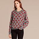 propustiti francuski izlazak slatka redovite pulloverpolka Dot crveno / crni / sivi okrugli vrat dugih rukava zimi vuna