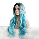 somke plave pastelne modne osobnosti šarmantnim prirodnim ženske trendy perika s tamnim korijenima celebrity stil it djevojke