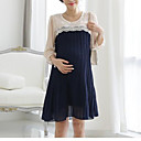 3Colors kvalitete trudnica elegent Čipka šifon prerušiti Korean Style Trudnice Duge Nabrane Haljine