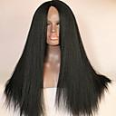 prirodno crna boja 16-26 inča Brazilski djevica kose kinky ravno čipke sprijeda vlasulja za žene
