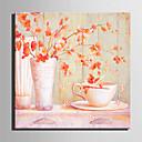 moderní styl růžové květinové nástěnné hodiny v plátně
