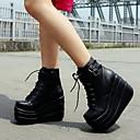 ženske čizme za proljeće / ljeto / jesen / zima borbene čizme pu povremeni platforma kuka&loop crno / bijele drugima