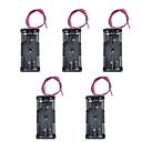 5kom 7 Hao 2-serijski kutija baterija pretinac / baterije na 7. s dva crvena i crna linija dva