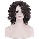 Short Hair Afro Curly Wave Brown Color Synthetic Wigs for Women