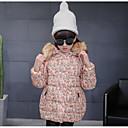 Djevojčice Poliester Cvjetni print Ležerno/za svaki dan Zima Dugih rukava Pernata i pamučna podstava
