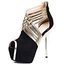 Women's Sandals Summer Platform / Novelty Fabric Wedding / Party & Evening / Dress Stiletto Heel Zipper Black / Blue / Gray / Peach Others
