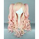 ružičasta mješoviti perika prilično Lolita perika gothic lolita ružičasta vlasulja ponytails princeza cosplay dugo valovita vlasulja