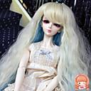 38 cm dlouhý Kinky rovně béžová a modrá barva na vlasy 1/3 1/4 BJD SD dz panenka paruka příslušenství, které není pro dospělého člověka