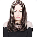 duga ravna kosa smeđa i plava boja mješovite sintetičkih perika za žene