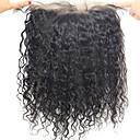 360 čelní Přírodní vlny Lidské vlasy Uzavření Středně hnědá Švýcarská krajka 60-120g gram Drobná Cap Velikost