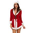 Přehoz Pohádkové / Vánoční santa obleky Festival/Svátek Halloweenské kostýmy Červená Jednobarevné / Patchwork PřehozHalloween / Vánoce /