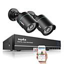sannce®1.0mp 720P 4CH HD 4 IN1 TVI 264 DVRに/屋外2個CCTVセキュリティカメラシステム