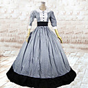 Jednodijelni/Haljine Classic/Tradicionalna Lolita Lolita Cosplay Lolita Haljine Sive boje Kolaž 3/4-Length rukav Dugi Duljina Haljina Za