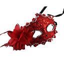 Maska Princeznovské Festival/Svátek Halloweenské kostýmy Červená / Hnědá / Zlatá / Oranžová Jednobarevné / Krajka MaskaHalloween /