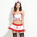 Ženy Ultra sexy Uniformy a kostýmy Kostýmy Kombiné Róby Noční prádlo Patchwork Polyester Spandex Bílá