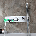 Sprinkle® slavine  ,  Suvremena  with  Krom Single Handle Pet Rupe  ,  svojstvo  for LED Waterfall Wall Mount
