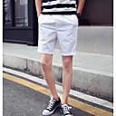 Pánské Jednoduchý Aktivní Mikro elastické Kalhoty chinos Kalhoty Rovné Mid Rise Jednobarevné